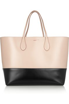 Rochas|Two-tone leather tote