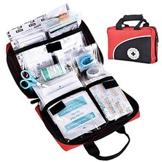 115 Piece First Aid Kit Home Camping Hiking Earthquake Medical Survival Bag Kits…