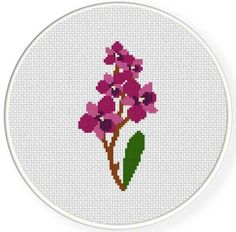 Orchid Flower Cross Stitch Pattern by teamembro3703945 - Craftsy