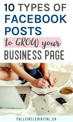 Looking for Facebook post examples to share on your business page? Try these different types of Facebook posts to increase engagement and grow your website traffic. These tips will give you inspiration whether you have a blog or another type of small business. Get started with this content strategy today! #facebookbusinesspage #facebook #facebookmarketing #socialmediatips #socialmediamarketing #contentstrategy #socialmedia #contentideas #facebooktips #facebookpage