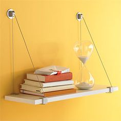 Thinking of these for the office above the desk...will hold the printer and office supplies....The Container Store > Cable Brackets with White Melamine Shelf