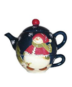 Overstock Snowman Delight Collection Tea-for-One Set