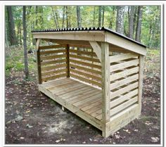 Amazing Shed Plans - How To Build A Firewood Storage Shed - Now You Can Build ANY Shed In A Weekend Even If You've Zero Woodworking Experience! Start building amazing sheds the easier way with a collection of shed plans! Outdoor Firewood Rack, Firewood Shed, Firewood Storage, Outdoor Storage, Diy Storage Shed Plans, Wood Storage Sheds, Wooden Sheds, Storage Rack, Fire Wood Storage Ideas