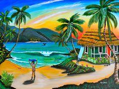 """""""Paradise Cove"""" ~ Robin Bones Art"""