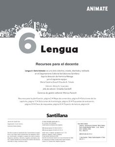 Animate Lengua 6  Orientaciones didácticas para el uso del libro Make It Simple, Names, Author, Books, Anaya, Magazines, Platform, Digital, Reading Comprehension