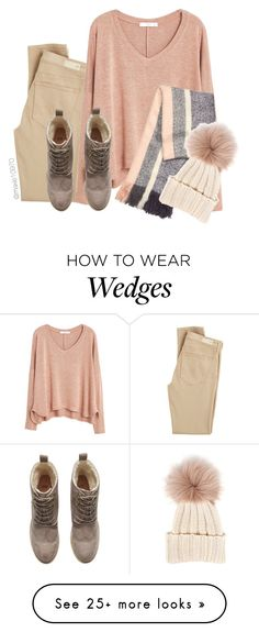 """""""Cream"""" by maxie10970 on Polyvore featuring AG Adriano Goldschmied, MANGO, H&M and Inverni"""