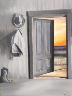Artist: Patouna Anastasia title: The Door oil painting price: 1500 Joomla Templates, Anastasia, Oil On Canvas, Layout, Gallery, Frame, Euro, Artist, Painting