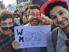 Thomas Middleditch - Look what nasty women I ran into at the march!