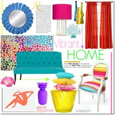 """Vibrant Home"" by dstrn8 on Polyvore"