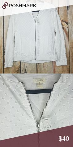 ede657bd4b4 Nwt white eyelet jacket j.crew Gorgeous brand new white eyelet jacket by  Jcrew.