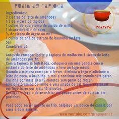 Pudim de Tapioca (sem lactose) Link: https://youtu.be/f7nVwz7o4x0