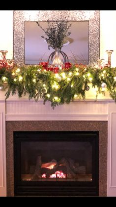 Fresh Christmas mantel