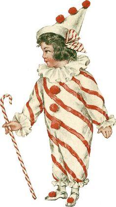 tubes cirque - Page 2 Cirque Vintage, Vintage Circus, Pierrot, Valentines For Kids, Vintage Valentines, Vintage Pictures, Vintage Images, Circus Crafts, Carnival Crafts