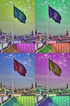 Hamburg Fahne x 4 | Bildschönes Hamburg