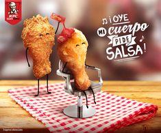 by Melissa Lozada Food Design, Food Graphic Design, Food Poster Design, Web Design, Food Advertising, Creative Advertising, Advertising Design, Kfc, Ads Creative