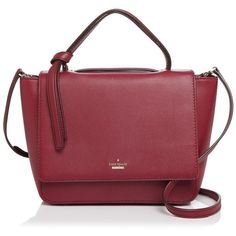 kate spade new york Kyleigh Satchel ($405) ❤ liked on Polyvore featuring bags, handbags, rioja red, kate spade purses, red satchel, satchel purses, handbag satchel and top handle purse
