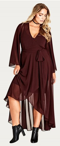 Stylish Plus-Size Fashion Ideas – Designer Fashion Tips Womens Linen Clothing, Plus Size Womens Clothing, Clothes For Women, Curvy Clothes, Trendy Clothing, Plus Size Maxi Dresses, Plus Size Outfits, Maxi Wrap Dress, Lace Dress