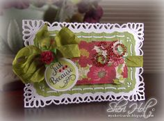 Just Because shaped card designed by Sheri Holt