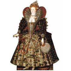 Queen Elizabeth I Cardboard Cutout -   Victorian / British Party Decoration Ideas
