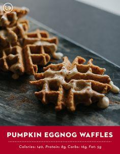 Healthy Pumpkin Eggnog Waffles