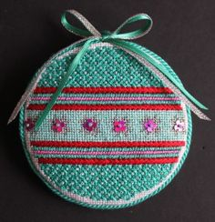 Little Bird Designs Stitch Guide for RO-004 Teal and Pink with Stars #modernneedlepoint
