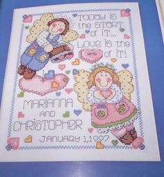 "Design Works WEDDING ANGELS 8"" x 10"" Counted Cross Stitch Kit"
