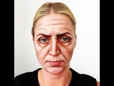 How to do an old age makeup - YouTube  I found this tutorial helpful however do not like the modern eyebrows as it takes away the realism. The shading and highlights are very effective and require a high amount of skill but is easy to follow. However, I feel powder does not work as well as grease paints when I have experimented with products.