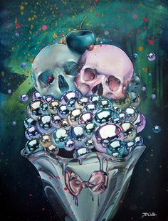 Skull Paintings by Jade Doreen Waller