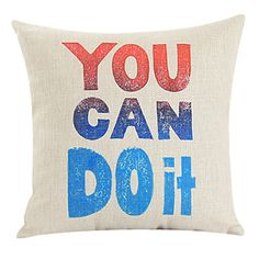 """18 """"Você pode fazer isso de algodão / linho fronha decorativa – BRL R$ 38,76"""