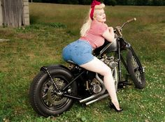 Retro Pin up on Motorbike, Lilli Luxe