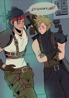 Final Fantasy Art, Fantasy Series, Cloud Strife, Kingdom Hearts, Art Reference, Supernatural, Clouds, Fan Art, Manga