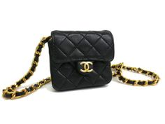#Chanel Mini Mini #Matrasse Pochette Lamb Skin Black(BF059504)