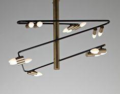PHILLIPS : UK000310, Stilnovo, Rare chandelier