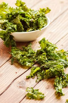 Coconut Oil Kale Chips - The Cookie Writer