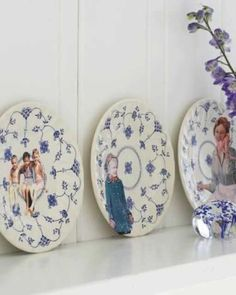 Family Photo Plates - http://www.sweetpaulmag.com/crafts/family-photo-plates #sweetpaul