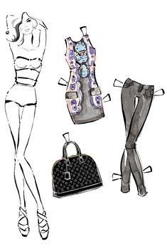 Louis Vuitton Paper Dolls - Fashion Doll