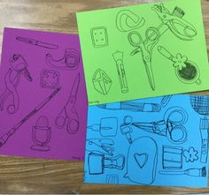 *Very Important Project* The second week of our observation drawing unit in 4th and 5th gradefocused on contour line, which is the exact ...