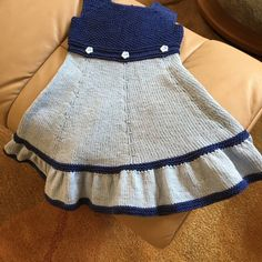 This dress was designed to flatter little toddler bodies. It is knitted completely in the round as are most of my projects.The bodice and skirt are knitted from different weight yarns.Bodice gauge is 21 sts per 4 inches in pattern. Skirt gauge is 23 sts per 4 inches in stockinette stitch. Skirt gauge is not that important, and a range of different weight yarns can be substituted with ease.Note on yarn (please read it is important!!!!):The project was designed with cotton yarn in mind. If…
