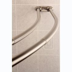 Curved Adjustable Chrome Double Shower Curtain Rod   Overstock Shopping    The Best Prices On Shower Rods