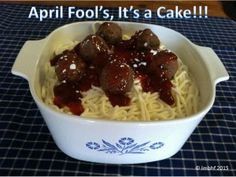 THIS IS A CAKE!!! That's right, it is a chocolate cake with buttercream frosting and cookies on top! Surprise your family with this fun and yummy April Fool's Day Prank. It's a Cake that looks just like a Spaghetti Dinner!