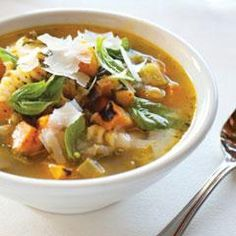 Italian Minestrone Soup With Butternut Squash