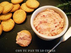 Paté de jamón Sea Cakes, Lunch Snacks, Canapes, I Love Food, Sauce Recipes, Cooking Time, Finger Foods, Appetizer Recipes, Food Porn
