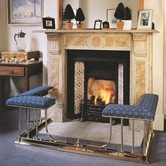 Fire Fender Seats and Fireplace Surrounds. Traditional Fireplace, Tuscan Fireplace, Fireplace Seating, Fireplace Mantel Decor, Floor Decor, Fireplace Surrounds, Living Room With Fireplace, Inglenook Fireplace, Home Decor