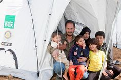 Shelter box.  These tents will provide housing for thousands of Syrians who otherwise would be sleeping in the open-air after their horrific crossing.