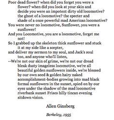 Ginsberg - Sunflower Sutra
