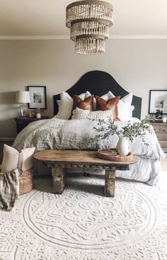 25 Cozy Bedroom Decor Ideas that Add Style & Flair to Your Home - The Trending House Cozy Bedroom, Dream Bedroom, Bedroom Decor, Bedroom Rugs, Bedroom With Couch, Bedroom Ideas Master On A Budget, Rustic Bedroom Furniture, Cottage Bedrooms, Rustic Bedrooms