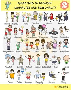 100+ Adjectives that Describe Personality and Character in English - 7 E S L