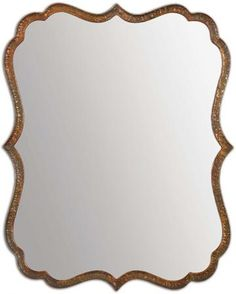 """Spadola Mirror Home Decorator's Store $289 Hammered metal frame in a copper finish with a rustic gray wash. May be hung horizontally or vertically. 30"""" x 24"""" x 1 1/2"""""""