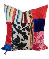 "Colorful,patterned pillow  from ""Through the French Eye of Design"" blog. (Squint Limited,London)."