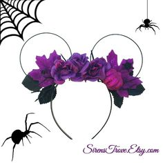 Disney Floral Halloween Inspired Minnie Mouse Disney Ears